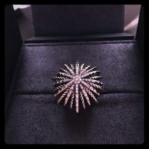 David Yurman Starburst Large Diamond Ring Size 8